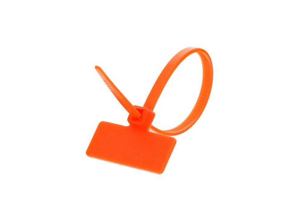 Outside Flag 4 Inch Orange Miniature ID Cable Tie Loop