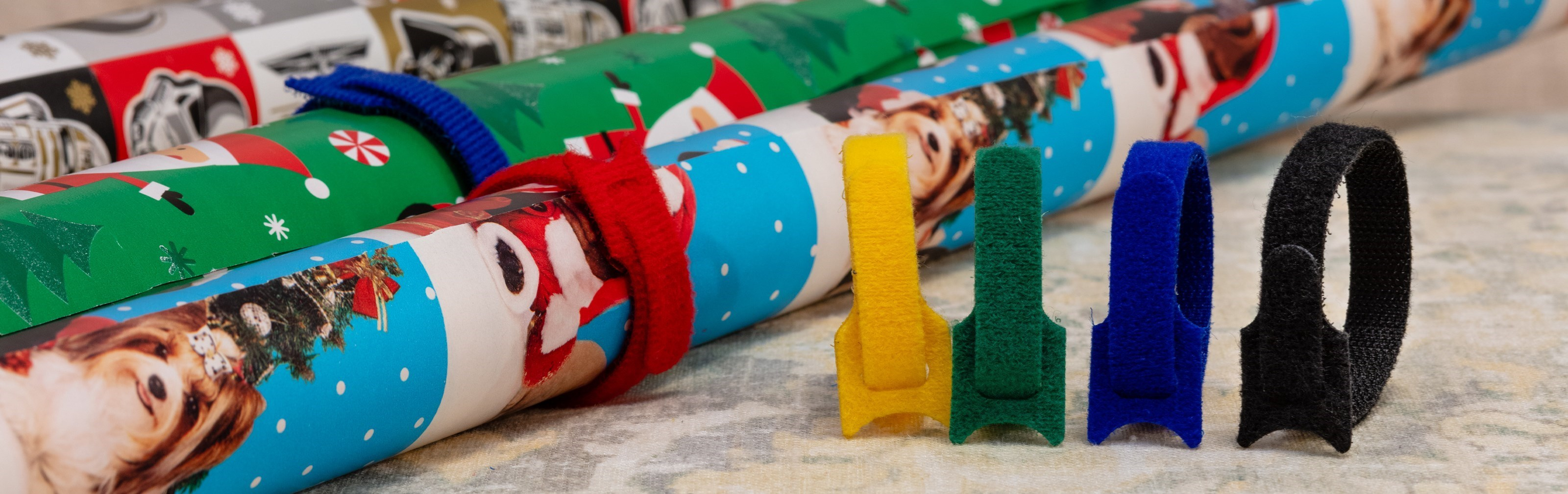 Picture for category Organize Your Wrapping Paper With Hook and Loop Tie Wraps