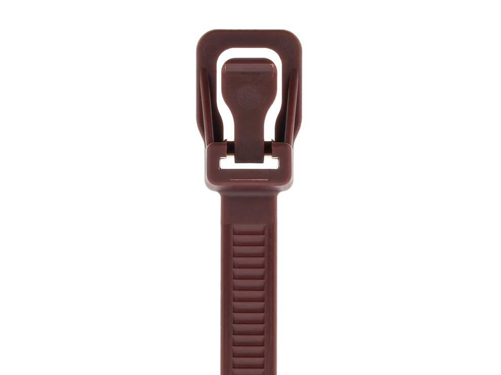 Picture of RETYZ WorkTie 14 Inch Brown Releasable Tie - 100 Pack