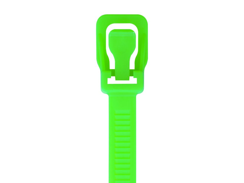 Picture of RETYZ WorkTie 24 Inch Fluorescent Green Releasable Tie - 100 Pack