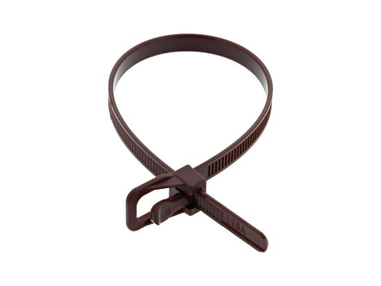 Picture of RETYZ EveryTie 8 Inch Brown Releasable Tie - 100 Pack