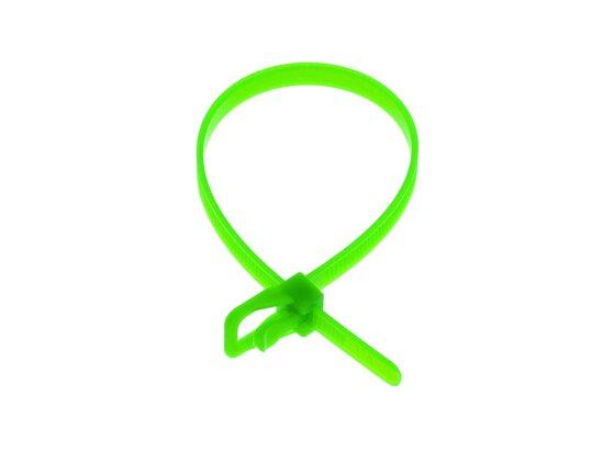 Picture of RETYZ EveryTie 8 Inch Fluorescent Green Releasable Tie - 100 Pack