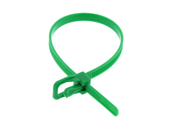 Picture of RETYZ EveryTie 8 Inch Green Releasable Tie - 100 Pack