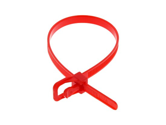 Picture of RETYZ EveryTie 8 Inch Red Releasable Tie - 100 Pack