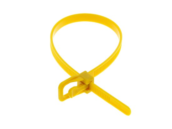 Picture of RETYZ EveryTie 8 Inch Yellow Releasable Tie - 100 Pack