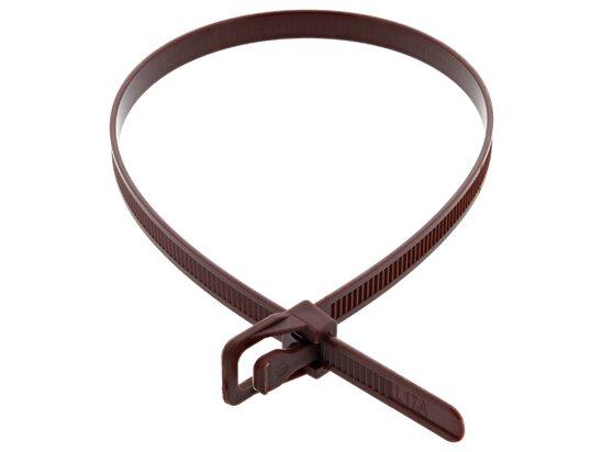 Picture of RETYZ WorkTie 14 Inch Brown Releasable Tie - 100 Pack