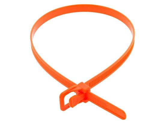 Picture of RETYZ WorkTie 14 Inch Fluorescent Orange Releasable Tie - 100 Pack