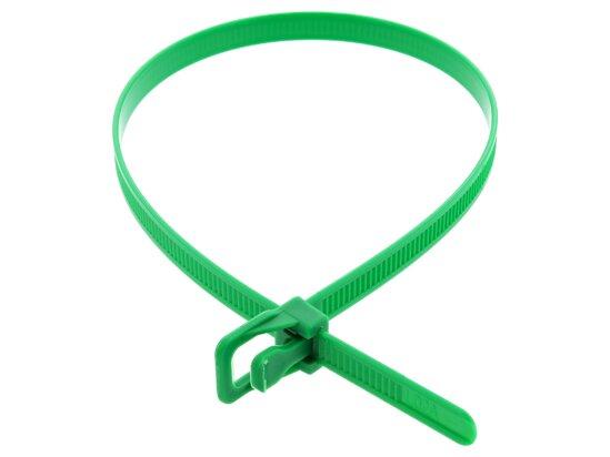 Picture of RETYZ WorkTie 14 Inch Green Releasable Tie - 100 Pack