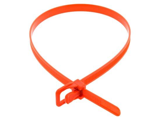 Picture of RETYZ WorkTie 14 Inch Orange Releasable Tie - 100 Pack