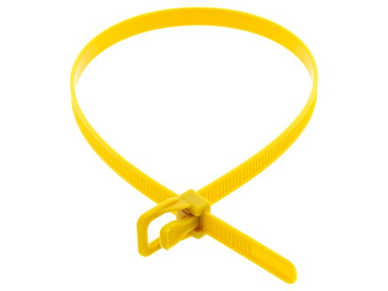 Picture of RETYZ WorkTie 14 Inch Yellow Releasable Tie - 100 Pack