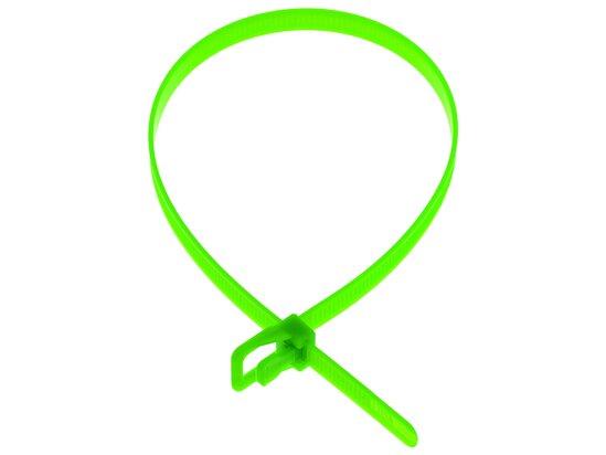 Picture of RETYZ WorkTie 24 Inch Fluorescent Green Releasable Tie - 100 Pack