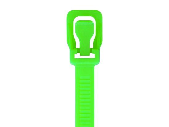 Picture of RETYZ ProTie 32 Inch Fluorescent Green Releasable Tie - 50 Pack