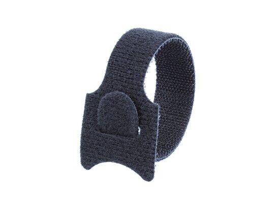 Picture of 12 Inch Black Hook and Loop Tie Wrap - 100 Pack