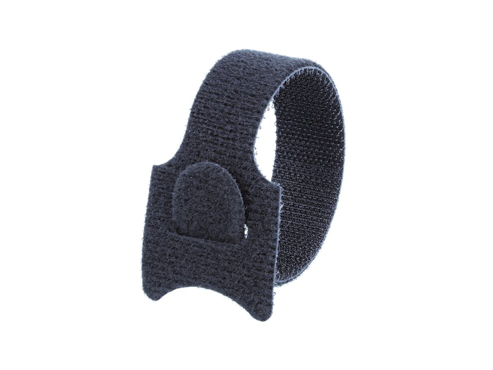 Picture of 12 Inch Black Hook and Loop Tie Wrap - 100 Pack