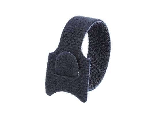 Picture of 8 Inch Black Hook and Loop Tie Wrap - 100 Pack