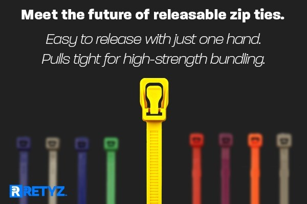 RETYZ Releasable Cable Ties