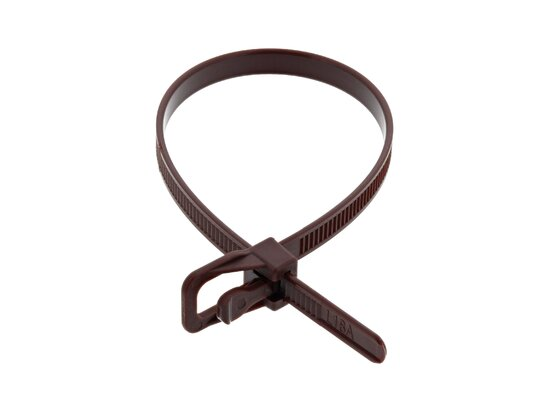 Picture of RETYZ EveryTie 8 Inch Brown Releasable Tie - 20 Pack