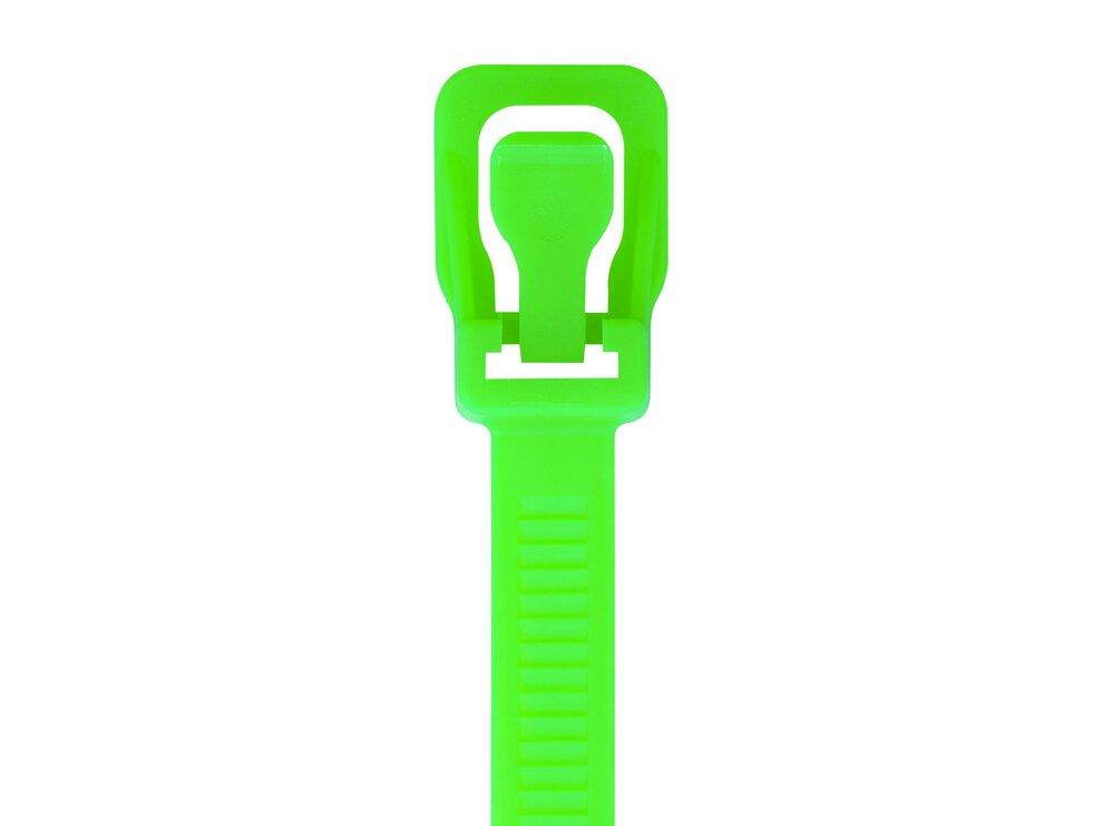 Picture of RETYZ WorkTie 14 Inch Fluorescent Green Releasable Tie - 20 Pack