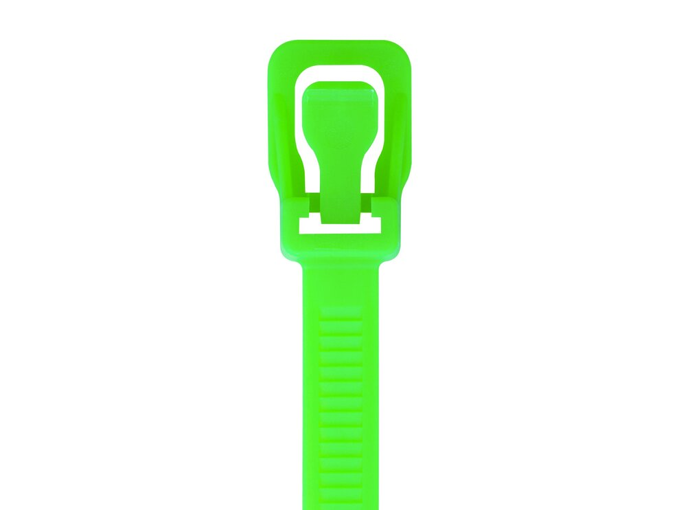 Picture of RETYZ WorkTie 24 Inch Fluorescent Green Releasable Tie - 20 Pack