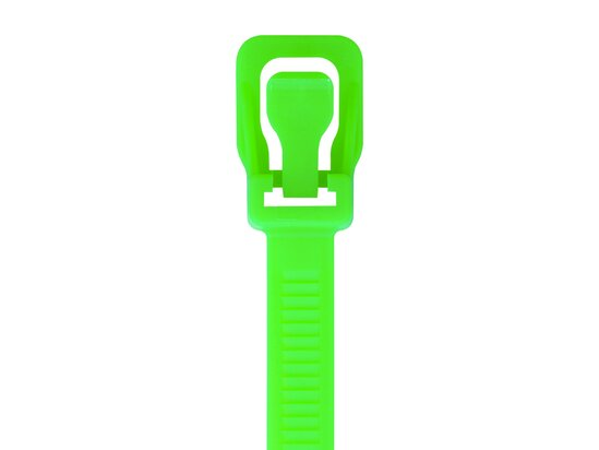 Picture of RETYZ ProTie 32 Inch Fluorescent Green Releasable Tie - 10 Pack