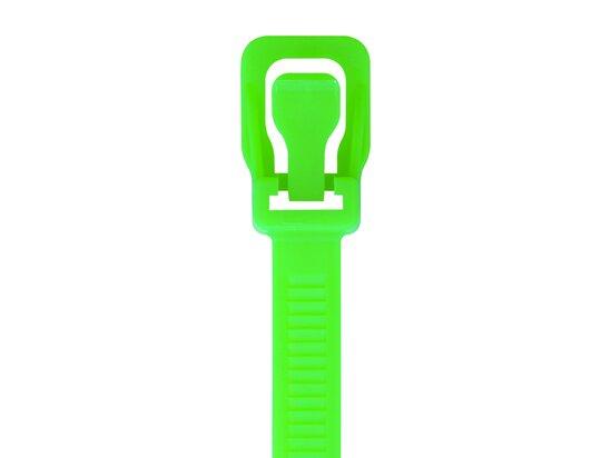 Picture of RETYZ ProTie 36 Inch Fluorescent Green Releasable Tie - 10 Pack