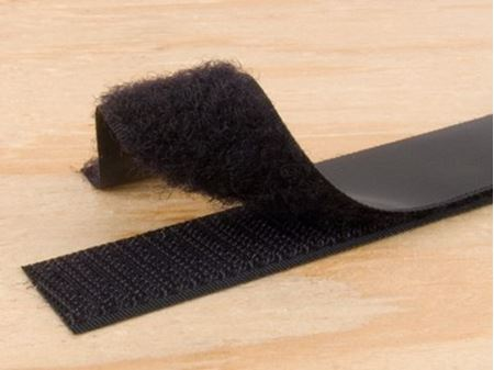 black 1 inch self adhesive hook and loop tape