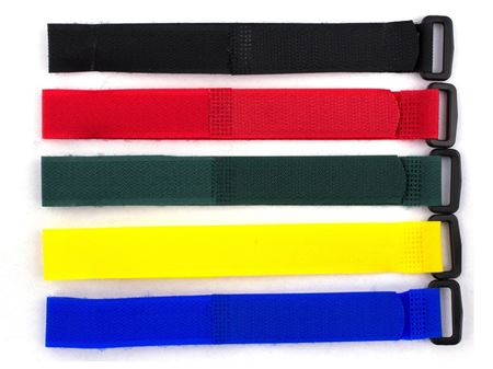 five pack multicolored 12 inch cinch strap