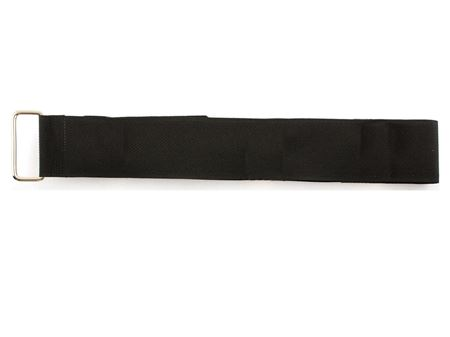 black 42 x 1.5 inch cinch strap with metal buckle
