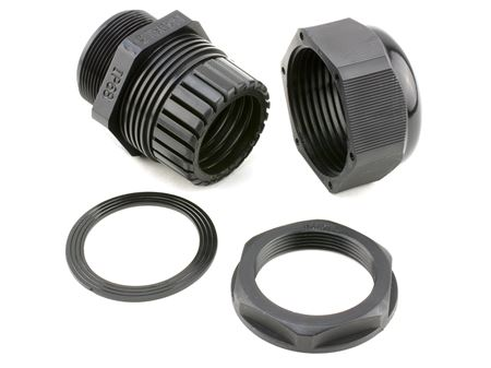 1 inch black cable gland