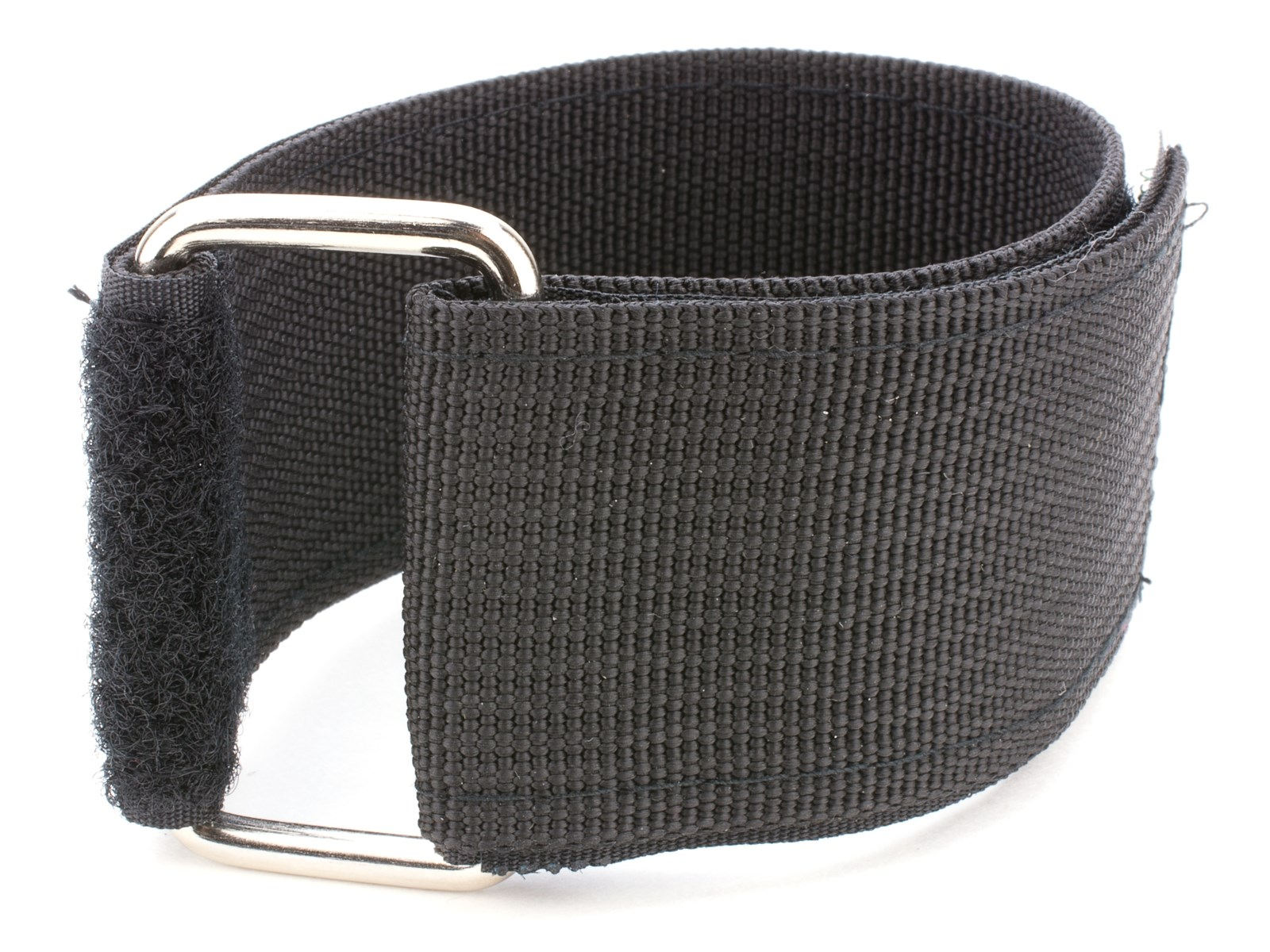 Black Hook and Loop Heavy Duty Strap Strapping Cable Ties with Metal Buckle
