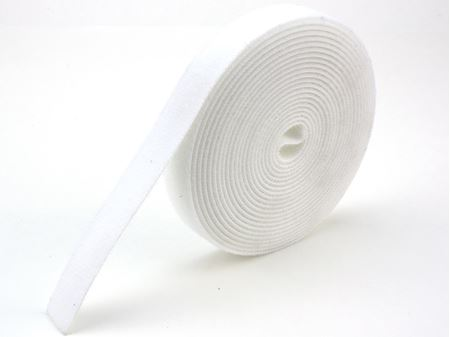 white continuous 1 inch hook and loop wrap