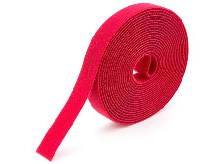 red continuous 1\2 inch hook and loop wrap