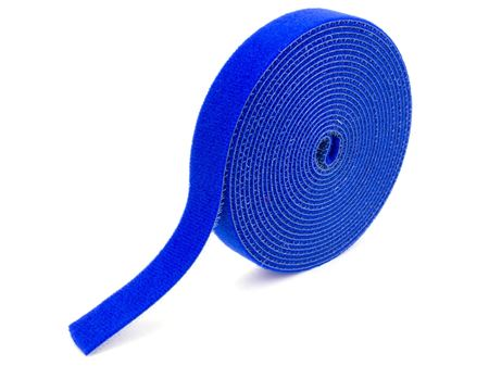 blue continuous 1\2 inch hook and loop wrap