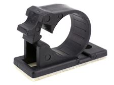 10 pack black 12mm self adhesive cable clamp