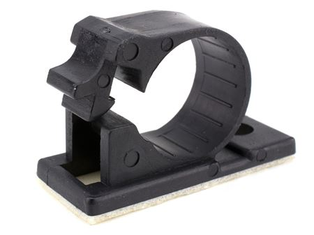 10 pack black 17mm self adhesive cable clamp
