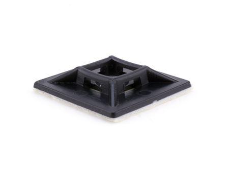 black 1 1\4 inch square adhesive tie mount