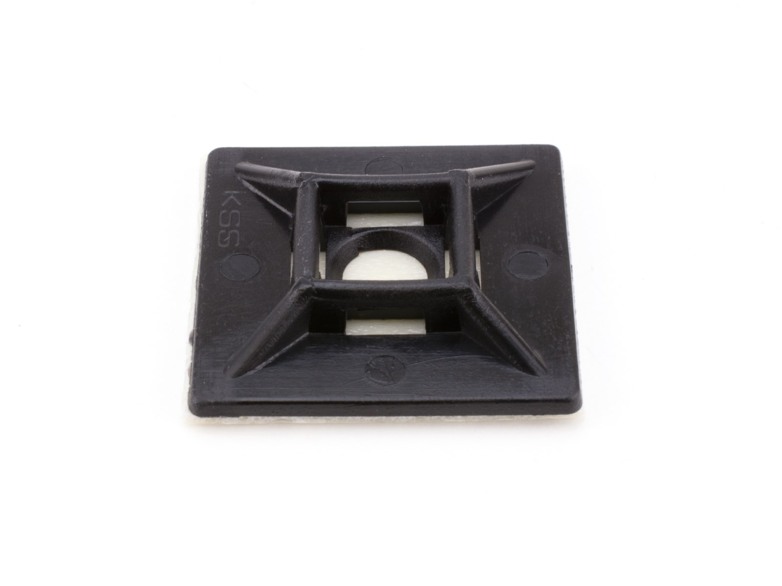 1 Inch Black Square Adhesive Tie Mount 100 Pack Secure