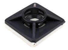 black 3\4 inch square adhesive tie mount
