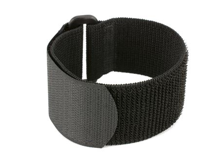 black 10 x 1 inch elastic cinch strap