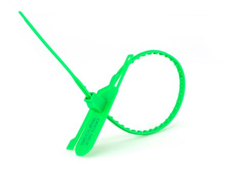 green 15 inch tamper evident tear away plastic seal