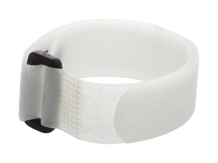 white 36 x 1 inch cinch strap with eyelet