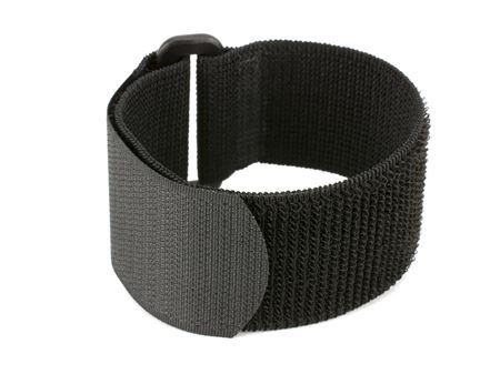black 18 x 1 inch elastic cinch strap
