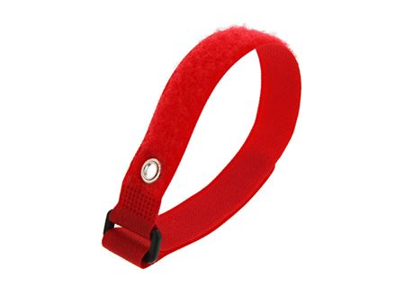 Picture of 12 Inch Red Cinch Strap with Eyelet - 5 Pack