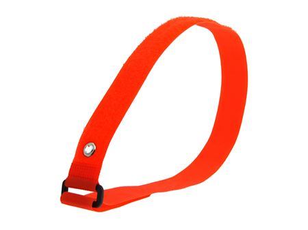 Picture of 24 x 1 Inch Orange Cinch Straps with Eyelet - 2 Pack