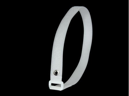 Picture of 30 x 1 Inch White Cinch Straps with Eyelet - 2 Pack