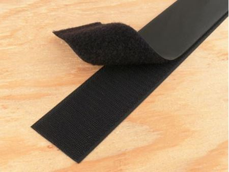 black 3 inch self adhesive hook and loop tape