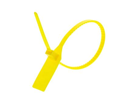 Picture of 13 Inch Heavy-Duty Blank Yellow Pull Tight Plastic Seal - 100 Pack
