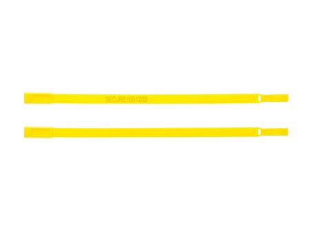 Picture of 8 Inch Fixed Length Yellow Plastic Seal - 100 Pack