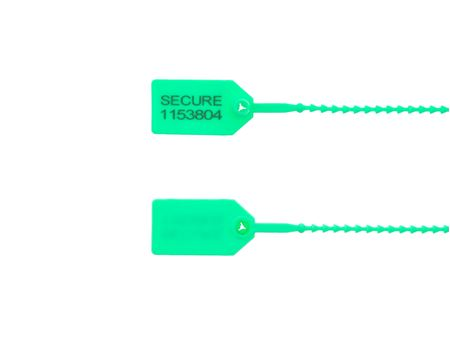 8 Inch Light-Duty Green Pull Tight Plastic Seal