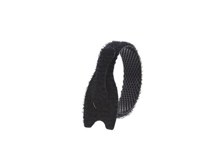 Picture of 3 1/2 Inch Black Hook and Loop Tie Wrap - 7 Pack